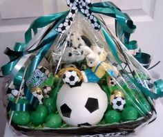 Sold reeses cheetah easter gift basket 18 handmade asst soccer easter gift basket 40 cappellos creations facebookcappyscreations message me negle Choice Image