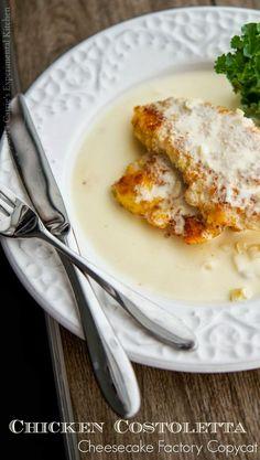 Copycat Chicken Costoletta from the Cheesecake Factory #chicken #copycatrecipes