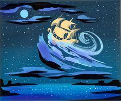 Original Peter Pan concept art by Mary Blair