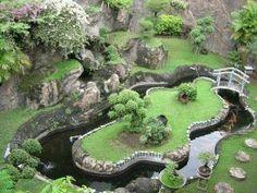 Pond with island!