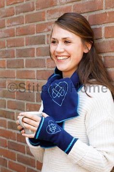 Sjaal / handwarmers en col   borduren/naaien editie 67-2019