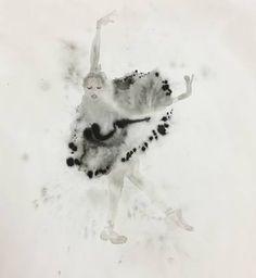 "Saatchi Art Artist Bridget Davies Art; Painting, ""Ballet"" #art"