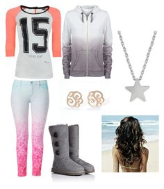 """""""School"""" by iacela ❤ liked on Polyvore featuring Hudson Jeans, UGG Australia, Studio Silver, Maison Scotch, women's clothing, women, female, woman, misses and juniors"""
