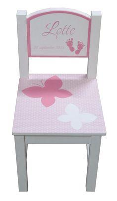 Kinderstoeltje roze vlinder