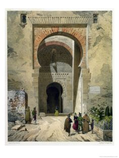 Leon Auguste Asselineau (1808-1889) Gateway of Justice, Entrance to the Alhambra.