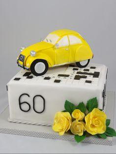 2 cv citroen Fonant Cake Torte Kreuzworträtsel Crossword