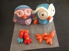 Hoot & Hootabelle   Cake Toppers