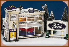 Uptown Motors Ford Dealership NIB Department Dept. 56 Snow Village D56 SV