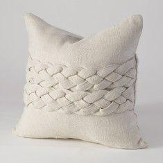 Studio A Avola Braided Pillow-Ecru