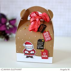 MINI MESSAGES is the perfect little clear stamp set as it covers many occasions. Its tiny sentiments are great to use for smaller tags and packaging. Christmas Tag, Christmas Crafts, Mama Elephant Stamps, Get Well Gifts, Elephant Design, Design Blog, Inspirational Gifts, Homemade Gifts, Happy Mothers Day