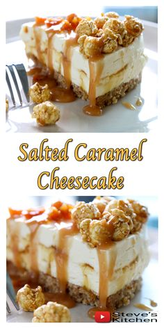 Continuing my No Bake Cheesecake series with a delightful Salted caramel Cheesecake ❤️  I made my own biscuit base this time and topped it with Caramel Popcorn……. Delicious 🍿  If you decide to make this recipe don't forget to share some pictures across to me on Facebook, Twitter, google + or whatever social media you like 🙂 I love to see what you have been up to. 👍  Also 'share the love' and share the video with your friends 😉  Full Video recipe Here: https://youtu.be/v4UgqtP7938