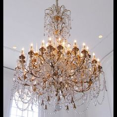 Palatial French 19th century Louis XV style gilt-bronze and Baccarat crystal chandelier