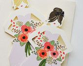 """Paper Doll Cards """"Will you be my Bridesmaid? - The First Snow"""