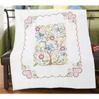 Herrschners® Tree of Life Lap Quilt Top Stamped Cross-Stitch
