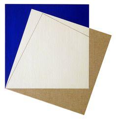 Galleria Marelia - Bourmaud Gael, Dèplacement 14, 2009, acrilico su tela applicata su legno, cm 58x55,5x5