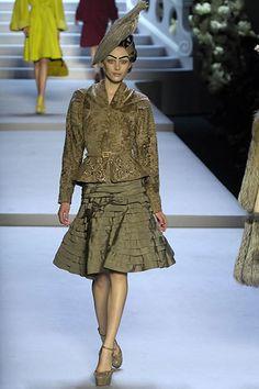 Christian Dior Fall 2007 Ready-to-Wear Fashion Show - Yana Karpova