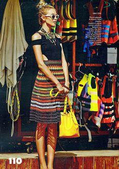 #MMissoni Raffia Carioca Dress   #Elle Magazine Greece   July 2013