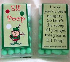 elf poop. But use wasabi nuts for the guys at work