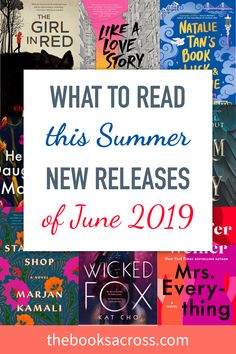 What To Read in June 2019 Books Releases Part 2 The Books Across is part of Books to read - If you like reading and always want to be up to date with the new releases, here are the most interesting books releases of June 2019 I Love Books, New Books, Good Books, Books To Read, Reading Books, Reading Lists, Book Club Books, Book Nerd, Book Lists
