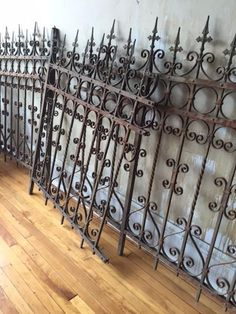 Italian Antique Wrought Iron Fence (SOLD) - Mercato Antiques - 1