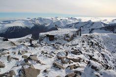 """Le refuge sommital, sur le """"toit de la Scandinavie"""""""