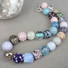 Pastel colors  Necklace by Glasting on Etsy, $440.00