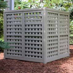 to hide my heat pump, then for my decorative fencing- use the same design... will need to put hinges on the fencing to allow easy access.