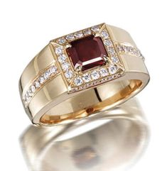 A coloured diamond and diamond ring The step-cut fancy reddish brown diamond, weighing 1.05 carats, within a brilliant-cut diamond surround, gallery and shoulders, mounted in 18k pink gold, remaining diamonds approximately 0.50 carat total