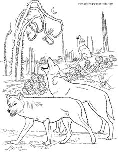 Wolf Coloring Pages for Adults | More free printable Wolves coloring pages and sheets can be found in ...