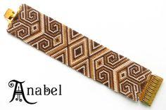 """Браслет """"Карамельный""""  Браслет """"Двухцветный""""  #beadwork peyote bracelet"""