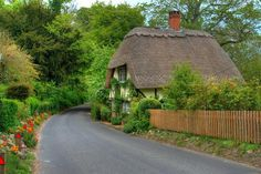 little cottage on a curve