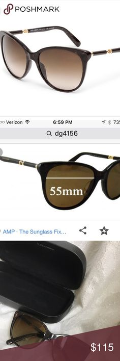 NWOT brand new Dolce & Gabbana sunglasses Purchased from sunglass hut! Never worn. Comes with original sunglass case. 55mm frame. Dark Brown/slight tortoiseshell frame. Dolce & Gabbana Accessories Sunglasses