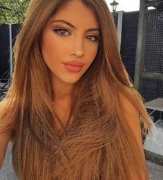 grafika girl, makeup, and beauty Most Beautiful Eyes, Stunning Eyes, Gorgeous Women, Brunette Beauty, Brunette Hair, Hair Beauty, New Hair Do, Love Hair, Color Castaño