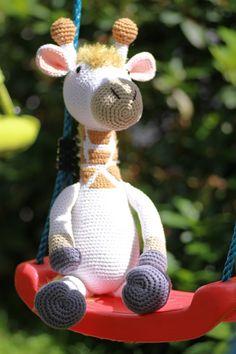 Amigurumi,gehäkelte Giraffe.Häkeltier.Handarbeit.
