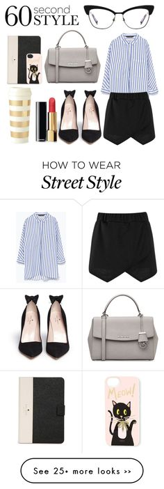 """Cool 'Kit' Tech Job Interview"" by camellia-rose on Polyvore featuring Kate Spade, Zara, Boohoo, MICHAEL Michael Kors, Chanel, Rifle Paper Co and 60secondstyle"