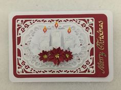 Diy Christmas Cards, Xmas Cards, Poinsettia Cards, Candle Box, Winter Cards, Making Ideas, Card Ideas, Card Making, Chinese