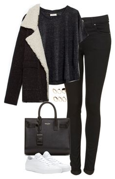 """Untitled #4925"" by eleanorsclosettt ❤ liked on Polyvore featuring Madewell, Zara, Yves Saint Laurent, Converse and ASOS"
