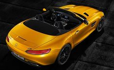 Mercedes-AMG Unwraps the GT S Roadster: Benz goes top down. Mercedes Benz Amg, Benz Sls, Mercedes Car, Cars Characters, Sports Car Wallpaper, Dual Clutch Transmission, Mens Gear, Range Rover Sport, Sweet Cars
