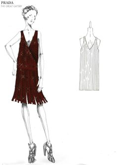 "PRADA — PRADA — One of the many Prada dresses that was used in ""The Great Gatsby"", if these styles came back, especially for the Spring. Believe we all be in heaven and comfort, who didn't love the designs during that period, it was glamour and luxury. Blonde in the pic."