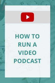 Want to start a video podcast? Wondering what goes into running a video podcast? This will show you how!