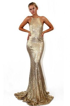Long Prom Dress, Sequin Prom Dress, Mermaid Prom Dress, Halter Prom Dress, Sexy Prom Dress, Backless Prom Dress, Floor-Length Party Dresses, Sleeveless Evening Dresses