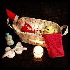 Elf on the Shelf: Temptation, relaxation.