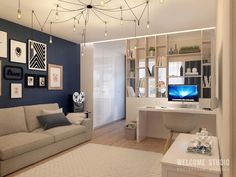 33 Amazing Studio Apartment Layout Ideas - Studio apartments are recent phenomenon and are intended for singles, professionals and students who cannot afford expensive big apartments. Condo Interior Design, Small Apartment Interior, Small Apartment Design, Condo Design, House Design, Studio Design, Apartment Ideas, Single Apartment, Studio Apartment Layout