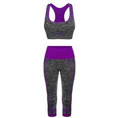 FITIBEST Sport Suits High Impact Sports Bra Yoga Pants Gym Outfits Breathable Exercise Bra and Leggings for Women (S, Purple) * You can get additional details at the image link. (This is an affiliate link) #yogachick