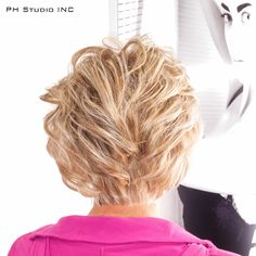 Golden highlights and low lights multidimensional mix of natural looking colors with graduated haircut that looks beautiful.  Haircut/Style & Color: Kristina Puckorius  Products: Aquage Uplifting Foam & Finishing Hairspray.