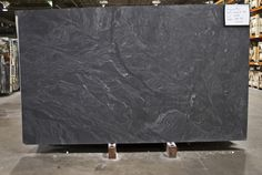 honed Virginia Mist granite - alternative to soapstone