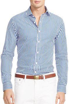 Ralph Lauren Bengal Stripe Slim Fit Button Down Shirt