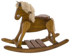 Amish Hardwood Small Deluxe Rocking Horse