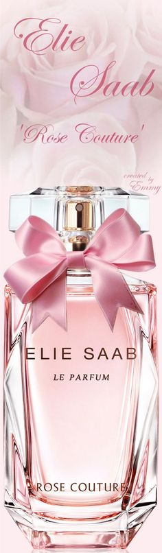 Elie Saab fragrance 'Rose Couture' Spring 2017 450 designer and niche perfumes/colognes to choose from! Carolina Herrera Parfum, Carolina Herrera 212, Carolina Herera, Pink Perfume, Perfume Bottles, Perfume Fragrance, Elie Saab, Parfum Rose, Body Spray