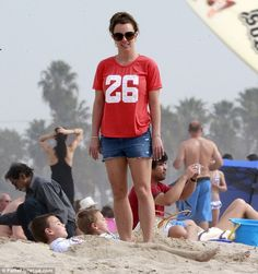 Britney Spears rocks a sporty T-shirt as she treats sons Sean Preston and Jayden James to a day at the beach
